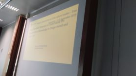 photograph of presentation in trier